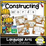 "Constructing Words CVC Phonics Station ~ 1"" Letter Tiles"