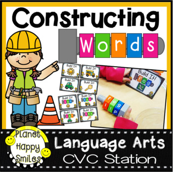 Constructing Words CVC Phonics Station Nuts and Bolts
