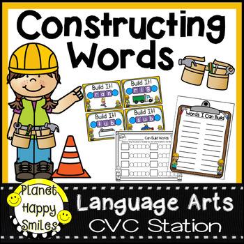 Constructing Words CVC Phonics Station Twist and Turn