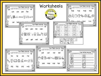 Constructing Words CVC Phonics Station ~ Clip Cards
