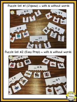 Constructing Words CVC Phonics Station ~ Puzzles