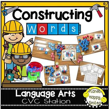 Constructing Words CVC Phonics Station ~ Reading Blocks