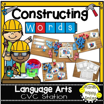 Constructing Words CVC Phonics Station - Reading Blocks