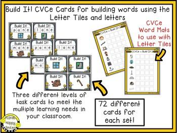 "Constructing Words CVCe Phonics Station ~ 1"" Letter Tiles"