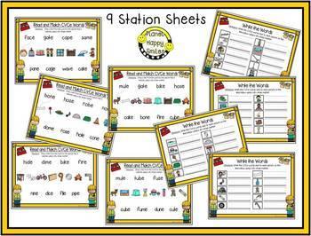 Constructing Words CVCe Phonics Station ~ Clip Cards
