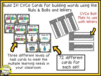 Constructing Words CVCe Phonics Station ~ Nuts and Bolts