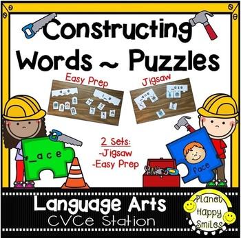 Constructing Words CVCe Phonics Station ~ Puzzles
