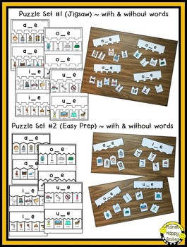 Constructing Words CVCe Phonics Station ~ Puzzles