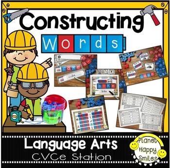 Constructing Words CVCe Phonics Station ~ Reading Blocks