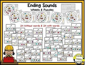Constructing the Alphabet ~ Ending Sounds Station