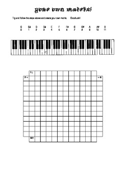 Constructing a 12 tone row and matrix: Music Composition for Seniors