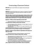 Constructing a Classroom Contract