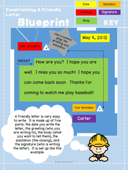 Constructing A Friendly Letter Writing A Friendly Letter Tpt
