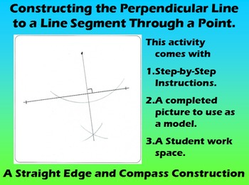 Constructing a Perpendicular to a Line Through a Point
