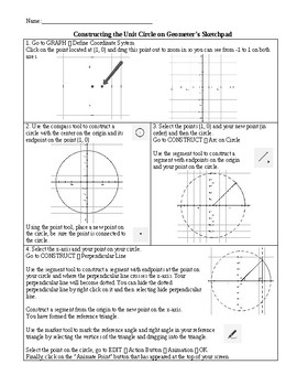 Constructing a Unit Circle on Geometer's Sketchpad