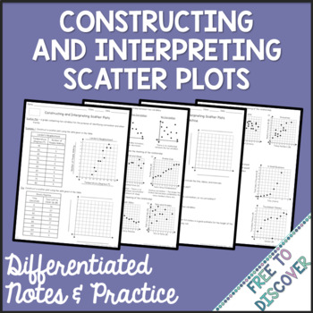 Scatter Plots Notes and Practice - Constructing & Interpreting (Differentiated)