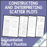 Scatter Plots Notes & Practice - Constructing & Interpreti