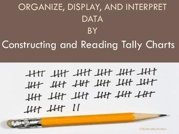 Constructing and Reading Tally Charts Organizer Math Center