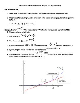 Constructing and Using Tangent Line Approximation
