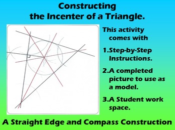 Constructing the Incenter of a Triangle