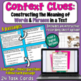 Constructing the Meaning of Words and Phrases in a Text Task Cards