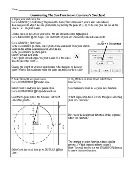 Constructing the Sine Function on Geometer's Sketchpad