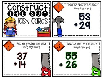 Constructing the Sum Task Cards