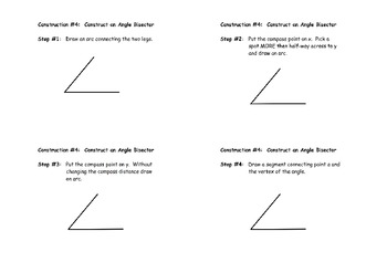 Construction #4:  Angle Bisector - Instructional Diagram
