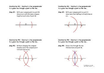 Construction #6:  Perpendicular Line Through a Point on the Line