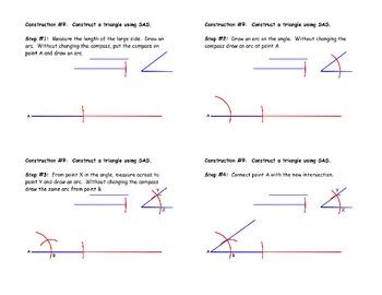 Construction #9 - Construct a Triangle Using SAS - Instructional Diagram