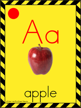 Construction ABC Cards with Sound Chips Posters for Classroom