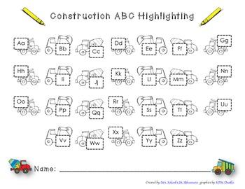 Construction ABC Highlighting