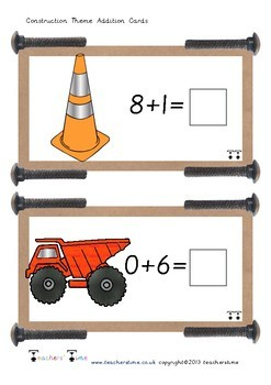 Construction Addition Cards