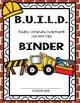 Construction B.U.I.L.D. Binder Covers
