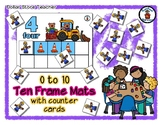 Construction Bears - Ten Frame Mats 0 to 10 & Counter Cards