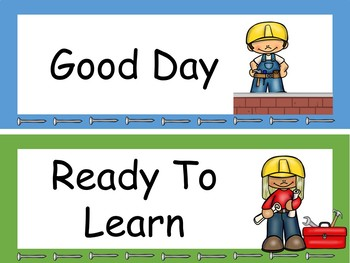 Construction Behavior Clip Chart Editable!