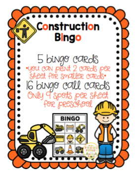 Construction Bingo