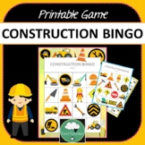 CONSTRUCTION BINGO GAME Two Designs + PDF + Digital Options