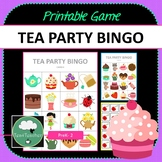 Tea Party Bingo - Cute Tea Party Themed Bingo Game for Preschool K-2 kids