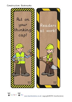 Construction Bookmarks