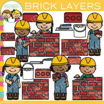 Construction Brick Layers Clip Art