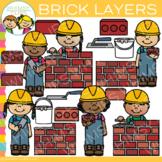 Construction Brick Layers Clip Art