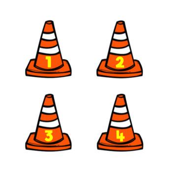 Construction Calendar Number Labels-Cone Shape