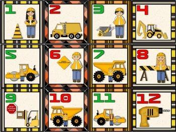 Construction Calendar Set