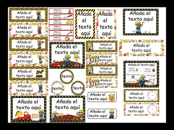 Construction Calendar Set {Spanish Version} EDITABLE!