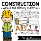 Construction Centers for Math and Literacy {kindergarten}