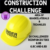 Construction Challenge : An Area of Quadrilaterals and Tri