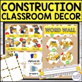 Construction Editable Classroom Decor Pack