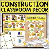 Construction Theme Classroom Decor Bundle | Editable Classroom Decor
