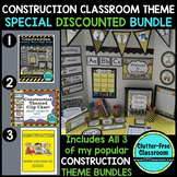 CONSTRUCTION THEME Classroom Decor EDITABLE - 3 product bundle